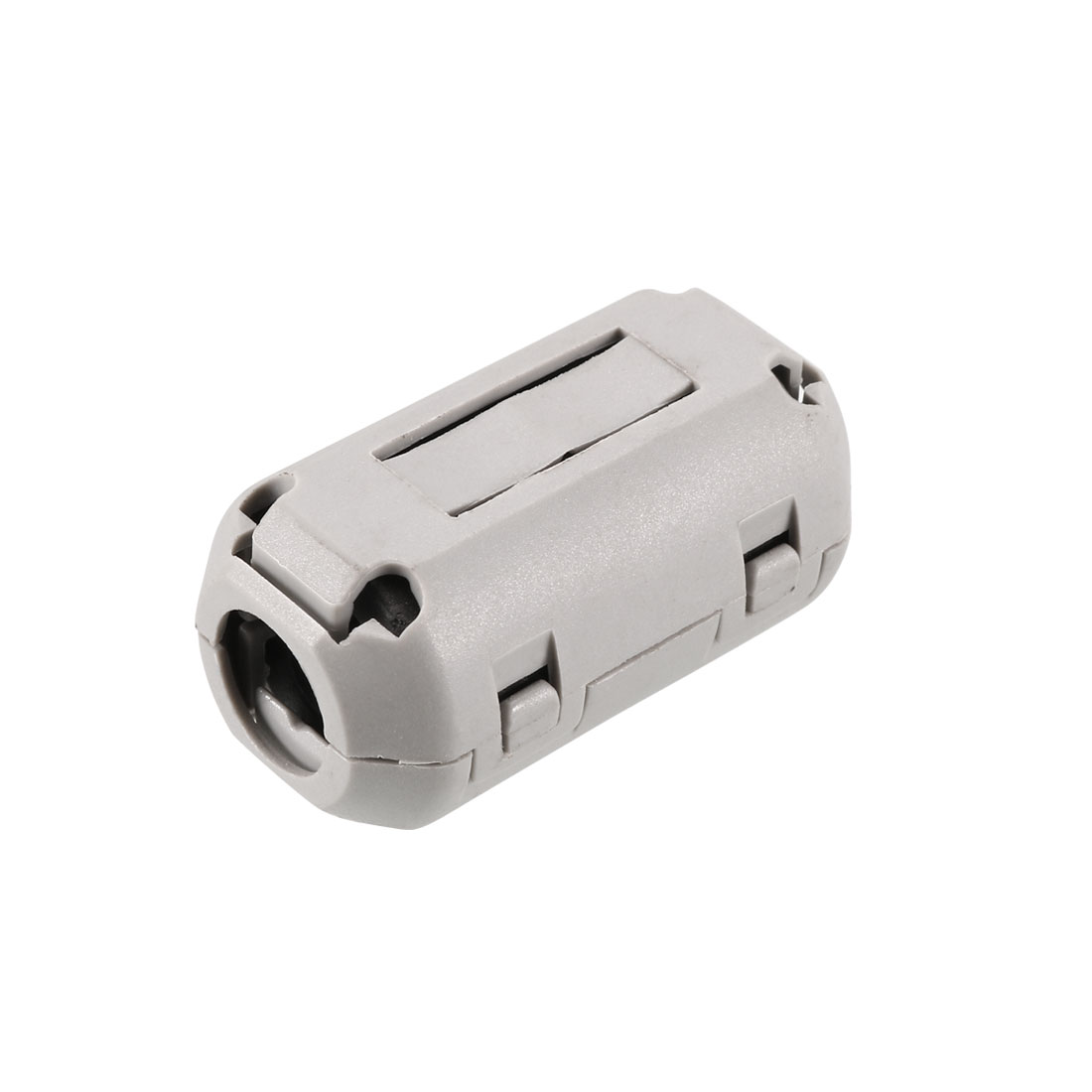 White 9mm Diameter Cord Ferrite Core Noise Suppressor Filter