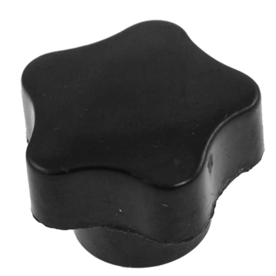 Replacement 6mm Diameter Female Thread Black Plastic Grip Star Knob