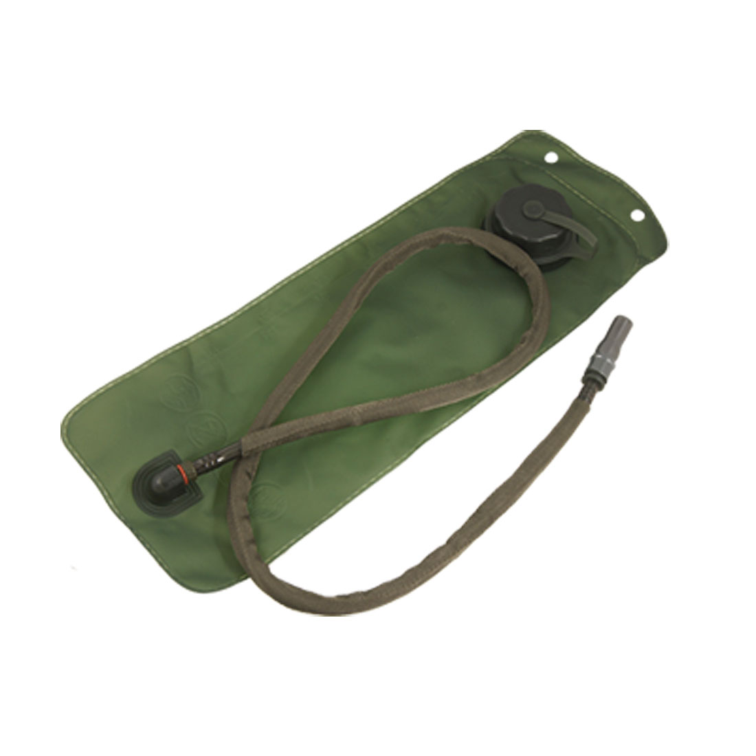 Hiking 3L Flexible Tube TPU Hydration System Water Bladder Bag Army Green