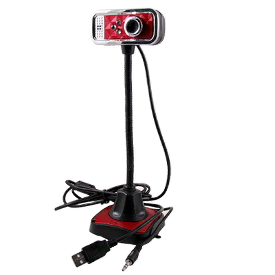 PC Computer Notebook 3.5mm USB 2.0 Microphone Mic Web Cam Webcam Camera