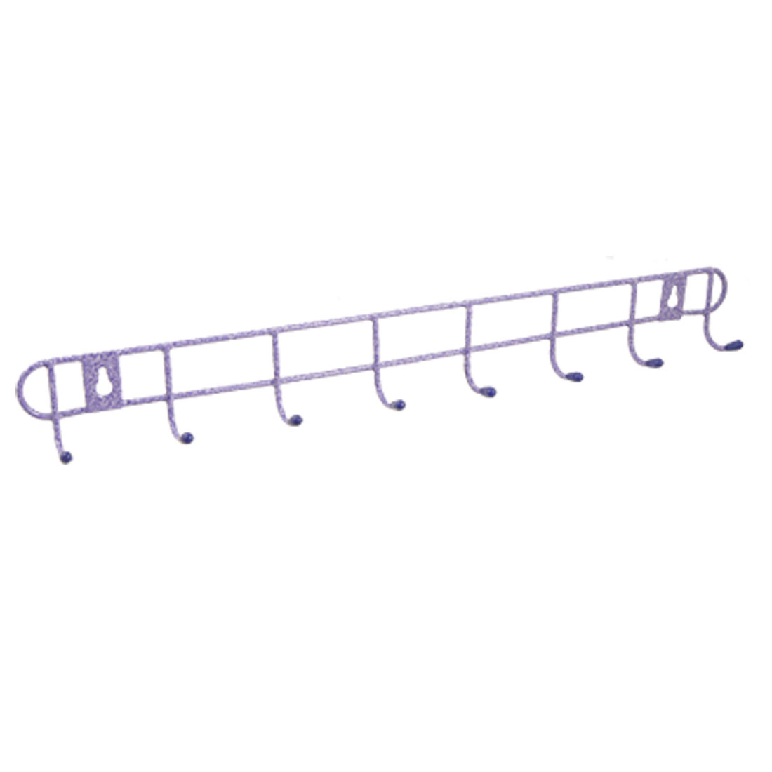 Multifunctional 8 Hooks Coat Hanger Towel Rack Purple