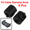 6 Pcs Black 8mm Dia Cord Ferrite Core Noise Suppressor Filters