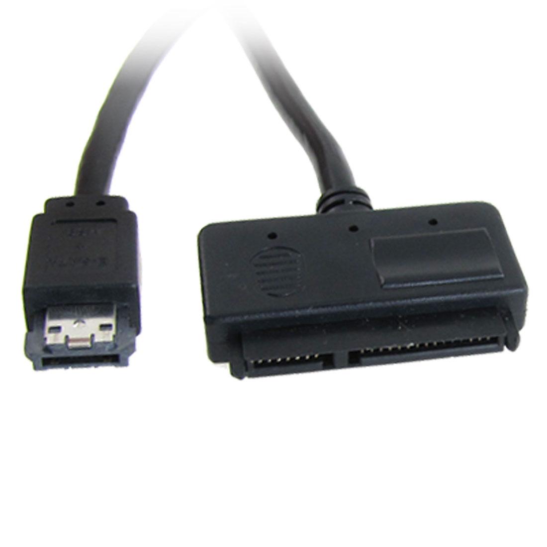 eSATA + USB Combo to Female 7 Pin eSATA Power Cable Black 1M