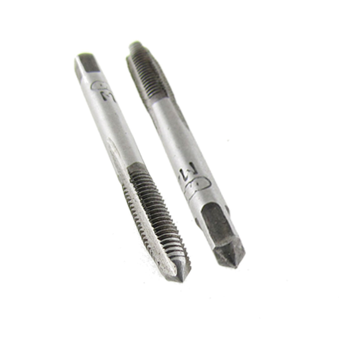 2 Pcs Metal 4mm M4 Screw Thread Metric Taps Hand Tool