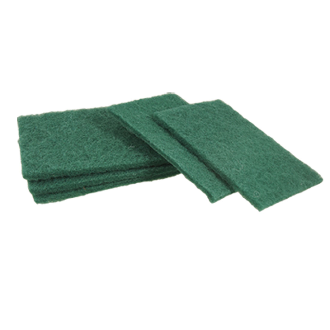5 Pcs Dark Green Rectangle Kitchen Dish Bowl Scouring Scrub Pads