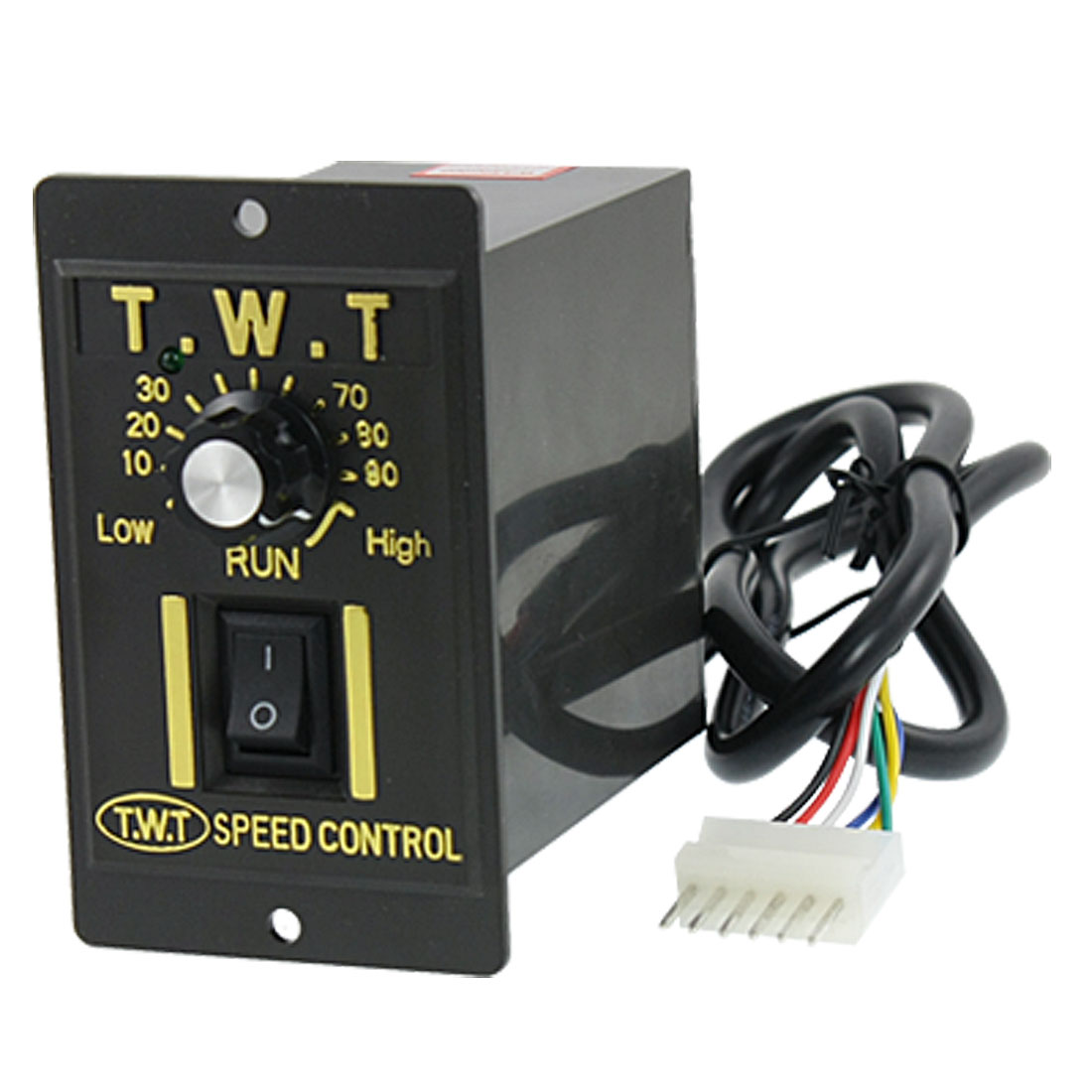 Black AC 220V 15W Mechanical Gear Motor Speed Controller