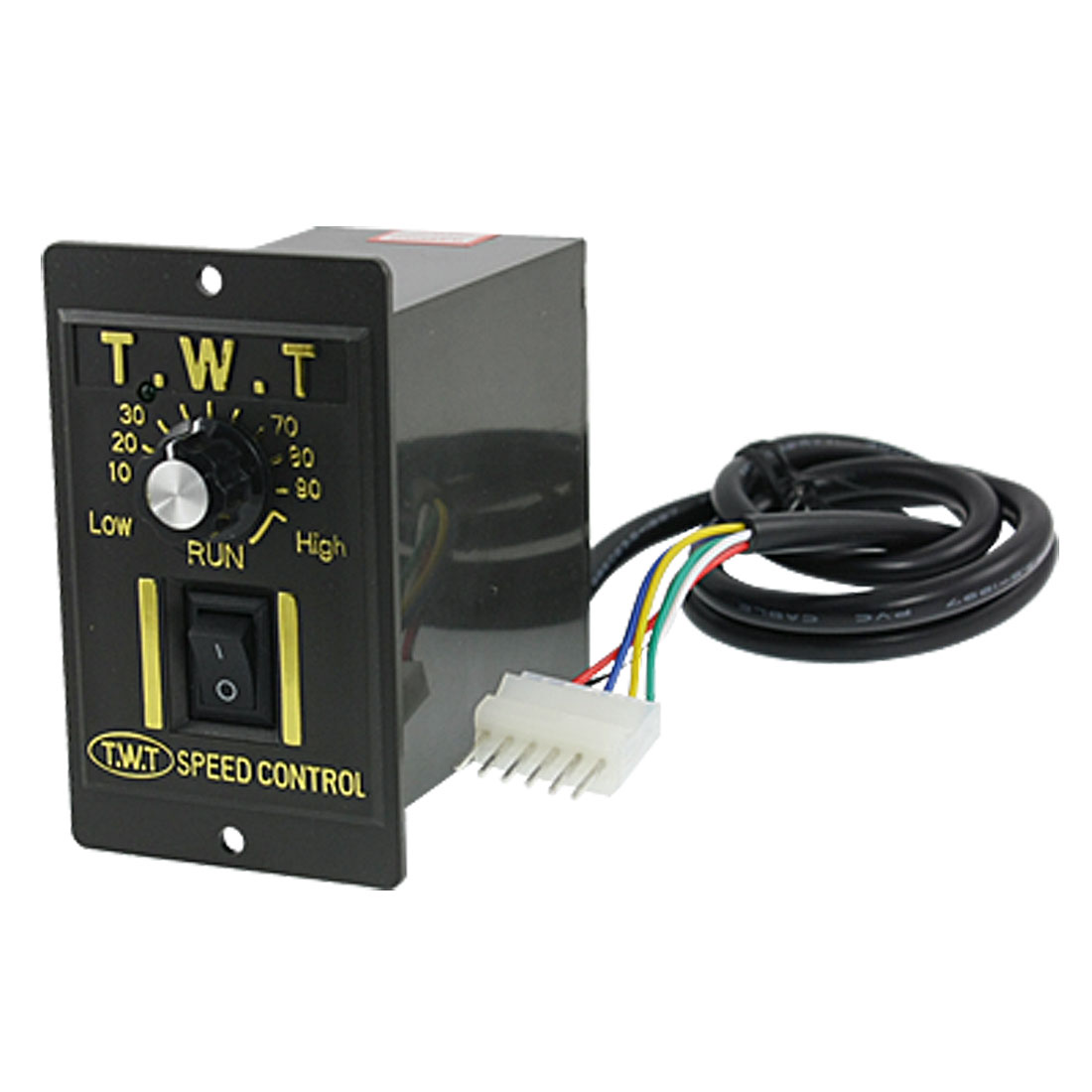 AC 220V 6W Electric Motor Speed Controller Switch Black