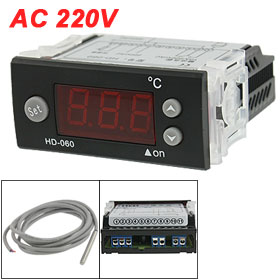 AC 220V Digital Electronic -40 to 80 Centigrade Temperature Controller