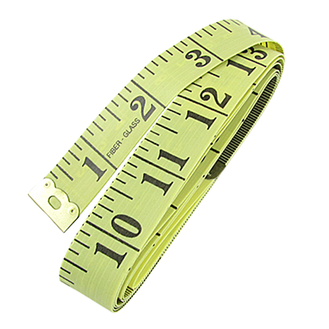 "Tailor Seamstress 60"" Tape Measure Cloth Ruler Yellow Black"
