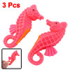 3 Pcs Plastic Artificial Seahorses Pink for Fish Tank Aquarium