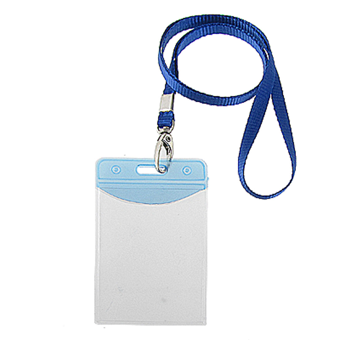 2 Pcs Clear Vertical IC ID Name Cards Holders w Strap