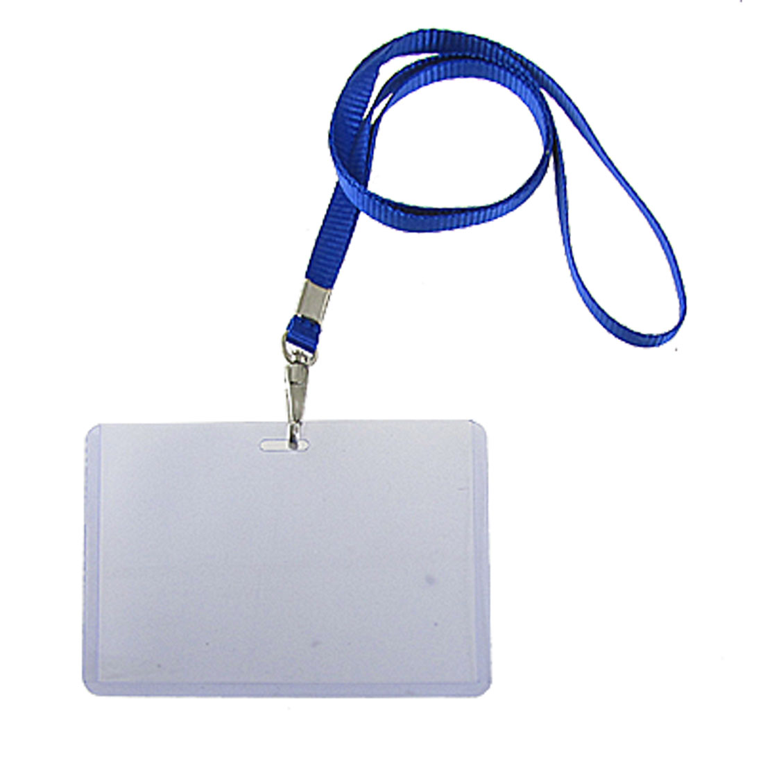 Neck Strap Clear Business Exhibition Name Card Holders 2 Pcs
