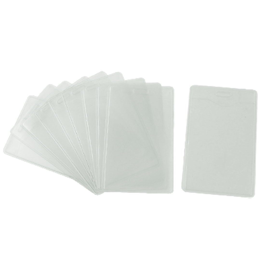 10 Pcs Clear White Plastic ID Name Cards Holders