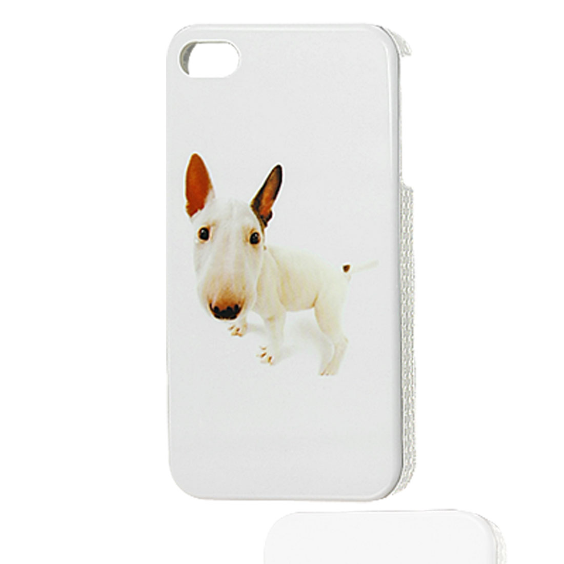 Hard Plastic Dog Pattern Smmoth IMD White Back Case for iPhone 4 4G 4S