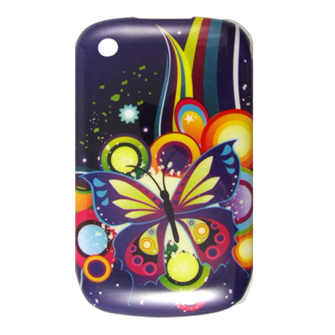 IMD Butterfly Print Hard Plastic Case Cover for Blackberry 8520