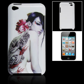 Dragon Tattoo Beauty Print IMD Hard Plastic Back Case for iPod Touch 4