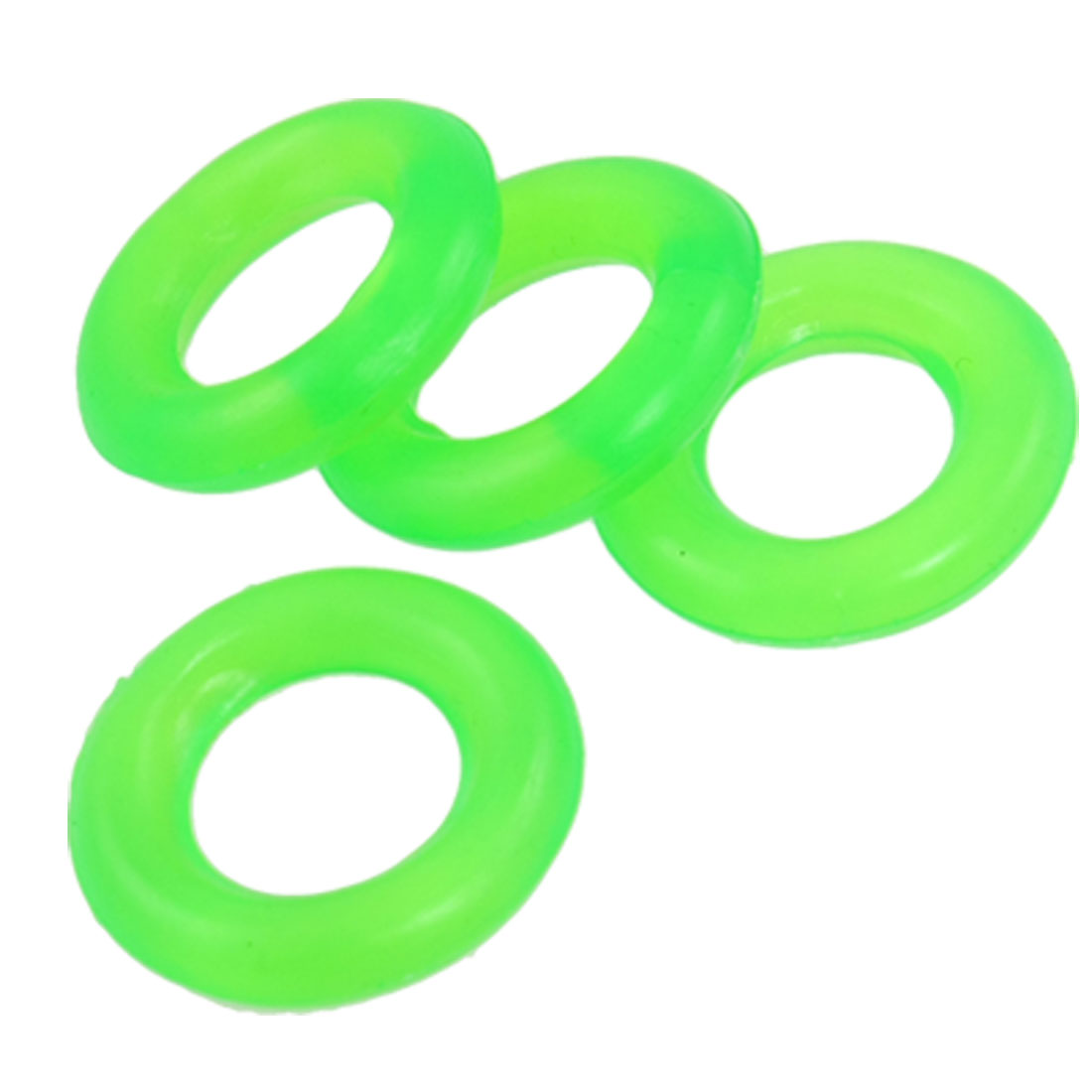 4 Pcs Green Rubber Anti-slip Circle O-rings for Fishing Rod