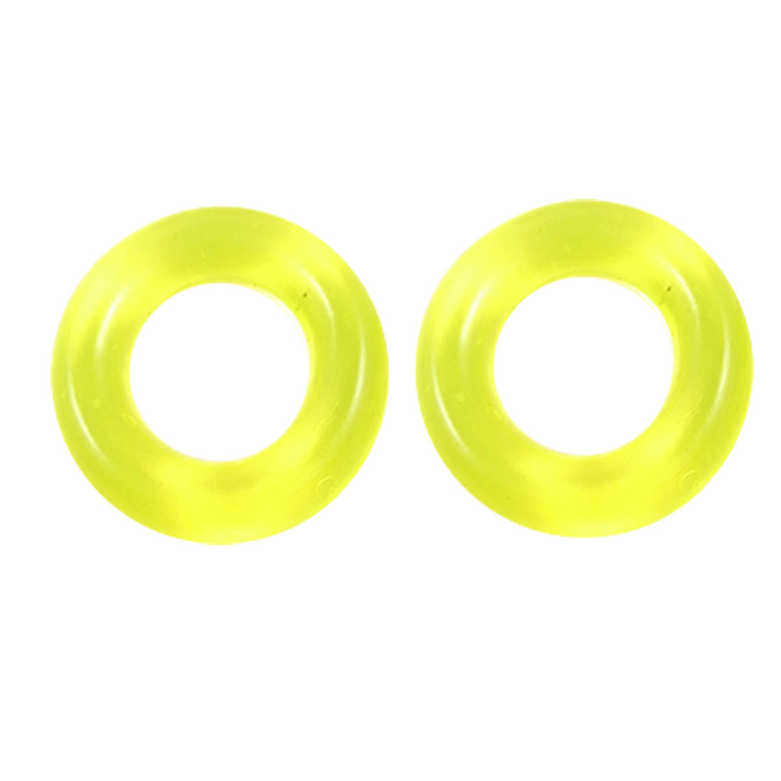 Fishing Rod Pole Yellowgreen Rubber Nonslip Circle Rings x 5