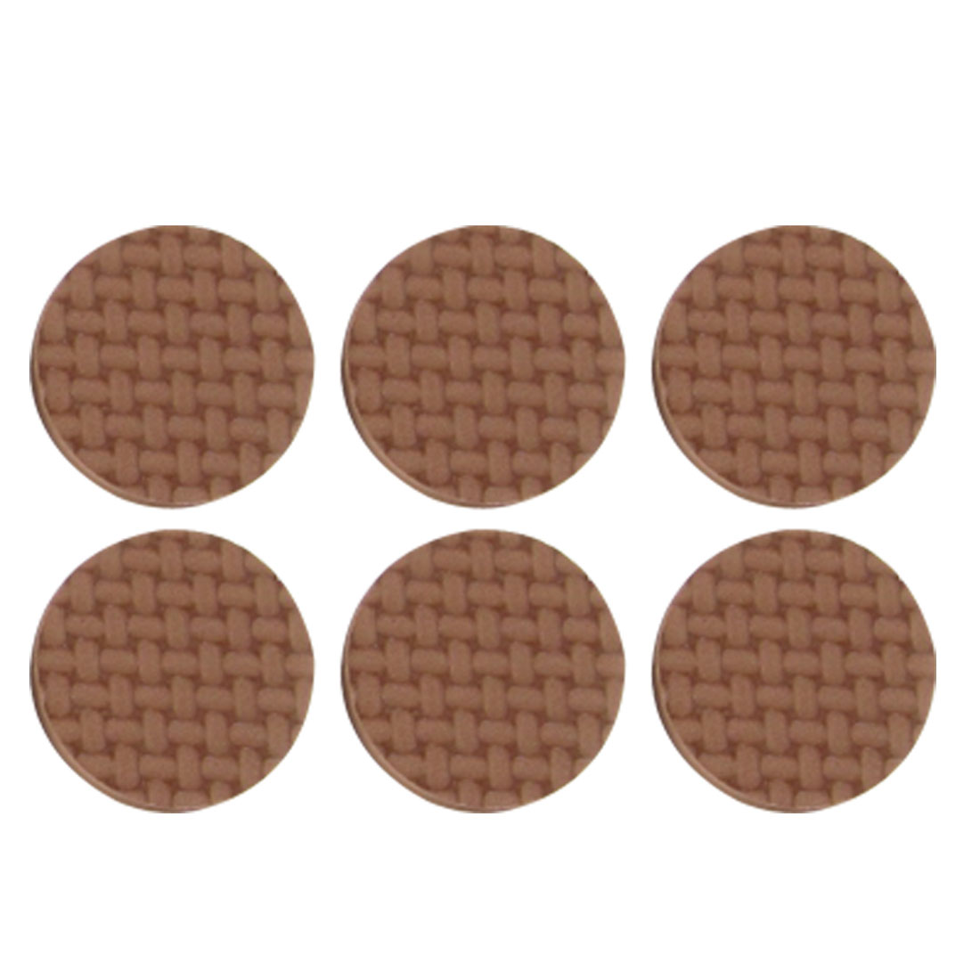 "Furniture 1"" Diameter Round Nonslip Brown Protection Pad Mat 18 Pcs"