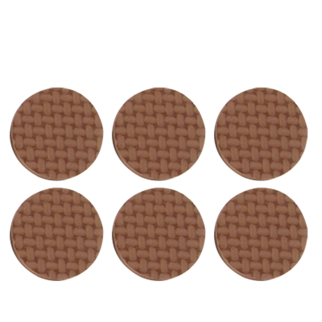 "40 Pcs Furniture Chair Table Foot 0.6"" Diameter Protective Brown Foam Mat Pad"