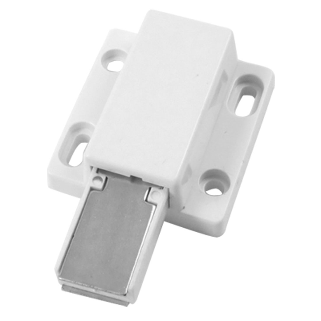 "Cabinet 1.8"" Length White Catch Latch Magnet w Plate"