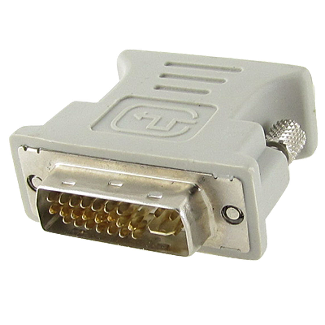 DVI-I 24+5 Pin Male Dual Link to Female VGA Converter Adapter