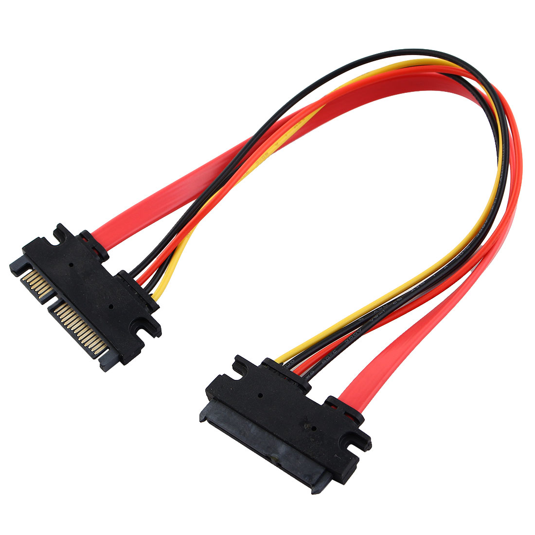 15 Pin + 7 Pin Serial ATA SATA Male to Female Power Cable