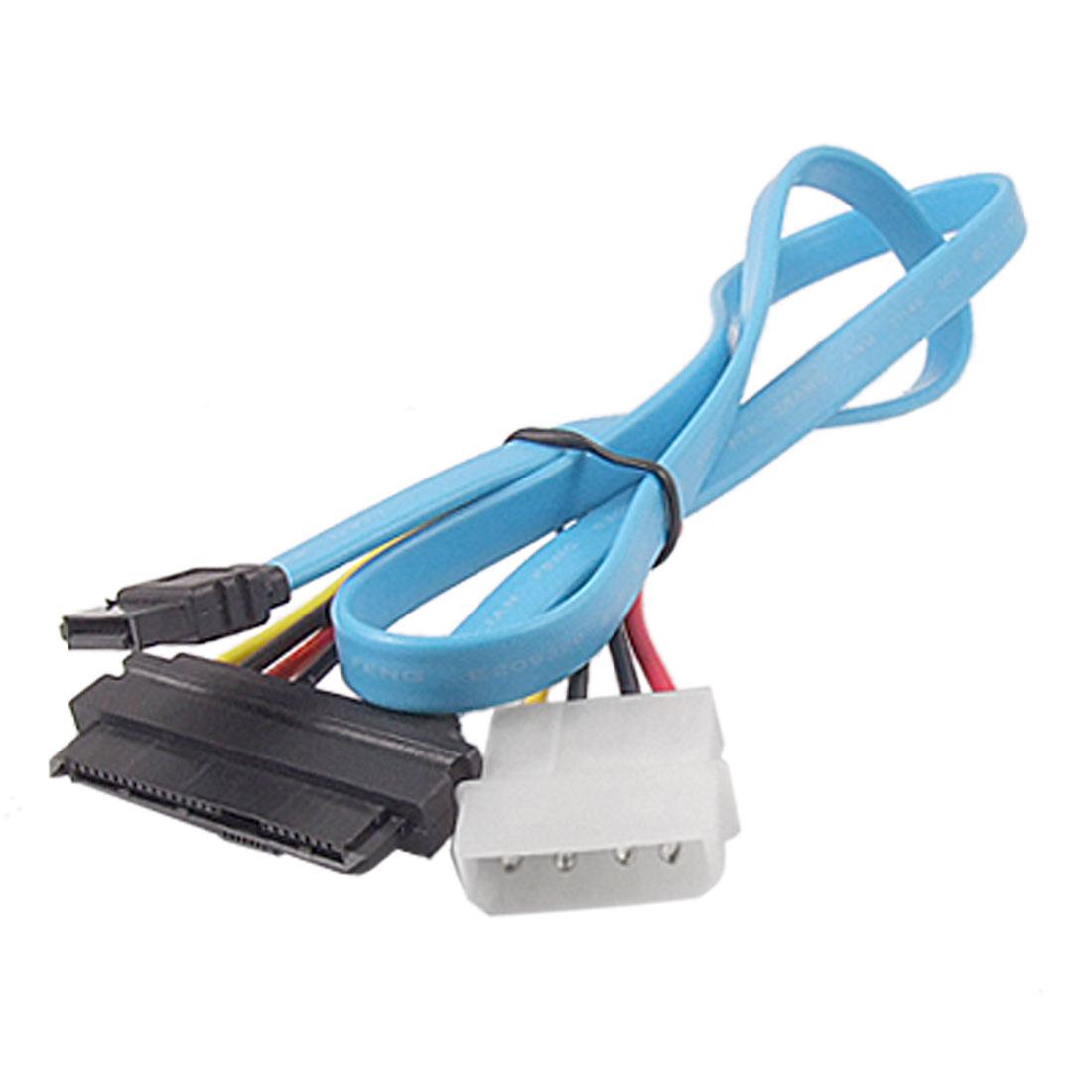 68CM 7 Pin SATA to SAS 29 Pin + 4 Pin Connector Power Cable