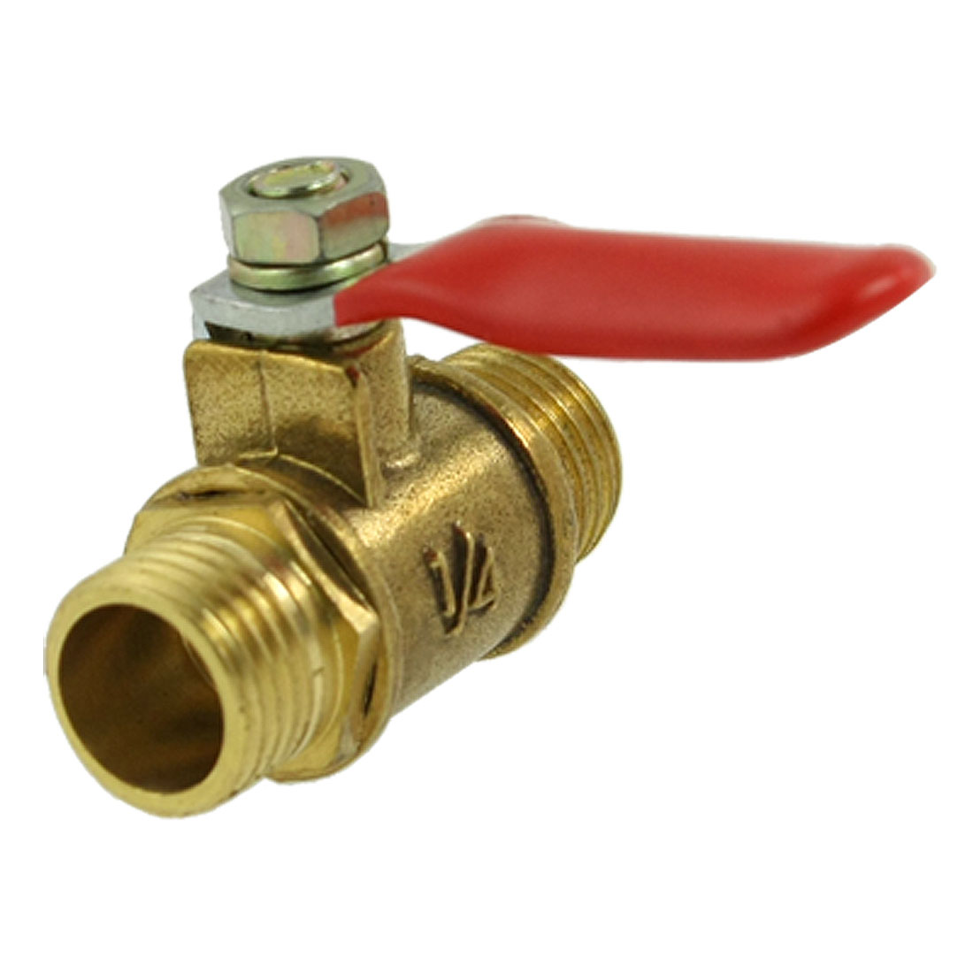 "Plastic Coated Handle 1/4"" Male Thread Pneumatic Ball Valve"