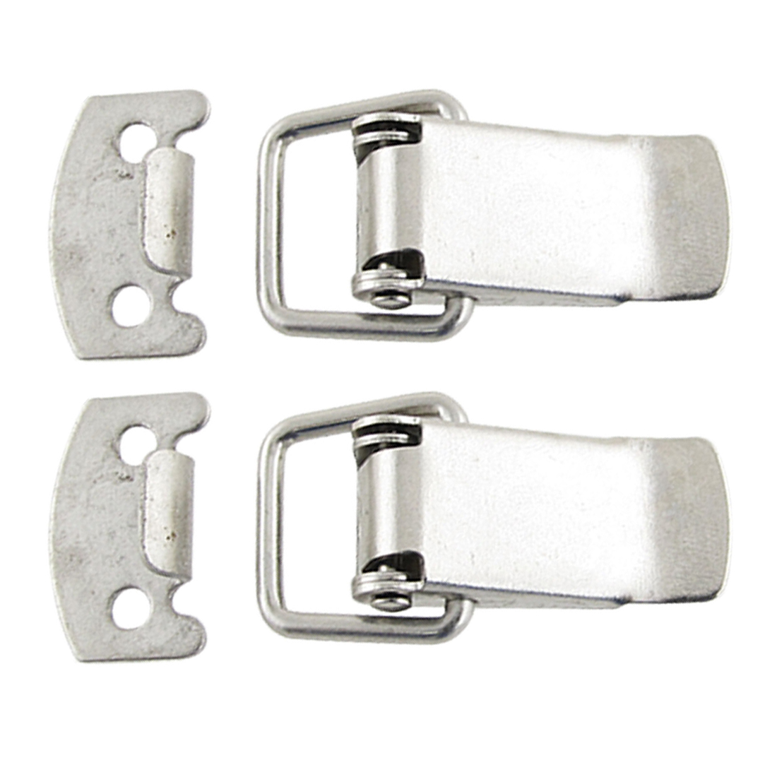 2 Sets Cabinet Drawer Metal Straight Loop Latches Catches