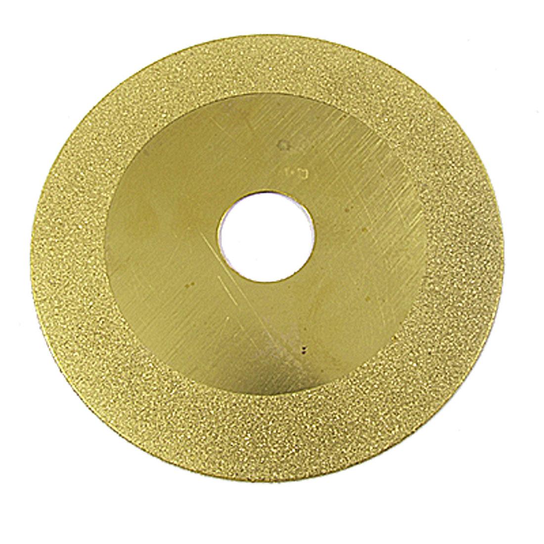 "4"" Diamond Coated Glass Grinding Grind Disc Wheel Gold Tone"