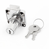 Cabinet Drawer Cupboard Locker Lock w Two Keys Silver Tone