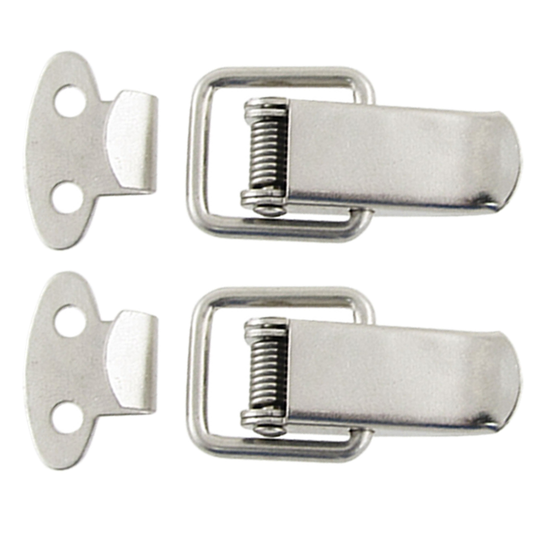 Cabinet Drawer Metal Straight Loop Catches Latches 2 Sets