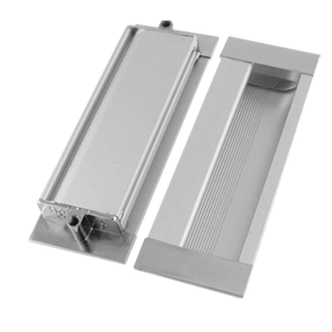 """4 1/3"""" Length Door Aluminium Pull Handles Silver Tone"""
