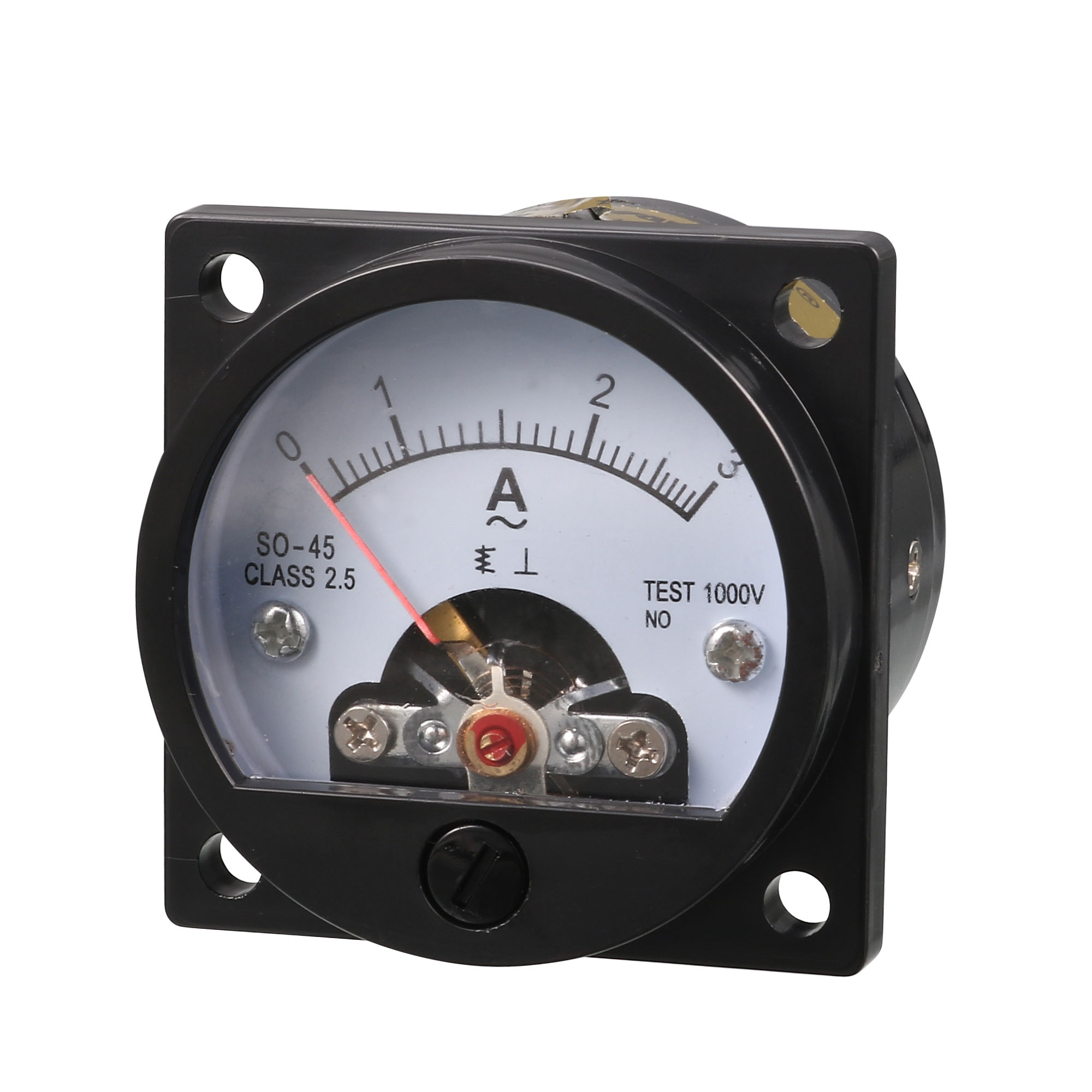 AC 0-3A Round Analog Panel Meter Current Measuring Ammeter Gauge Black