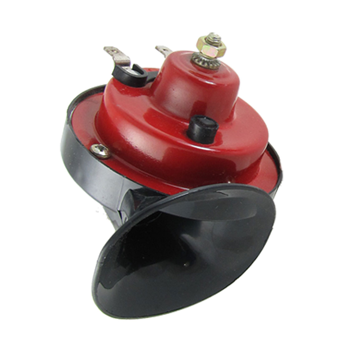 Auto Car Red Black Snail Shape DC 12V Speaker Sound Horn