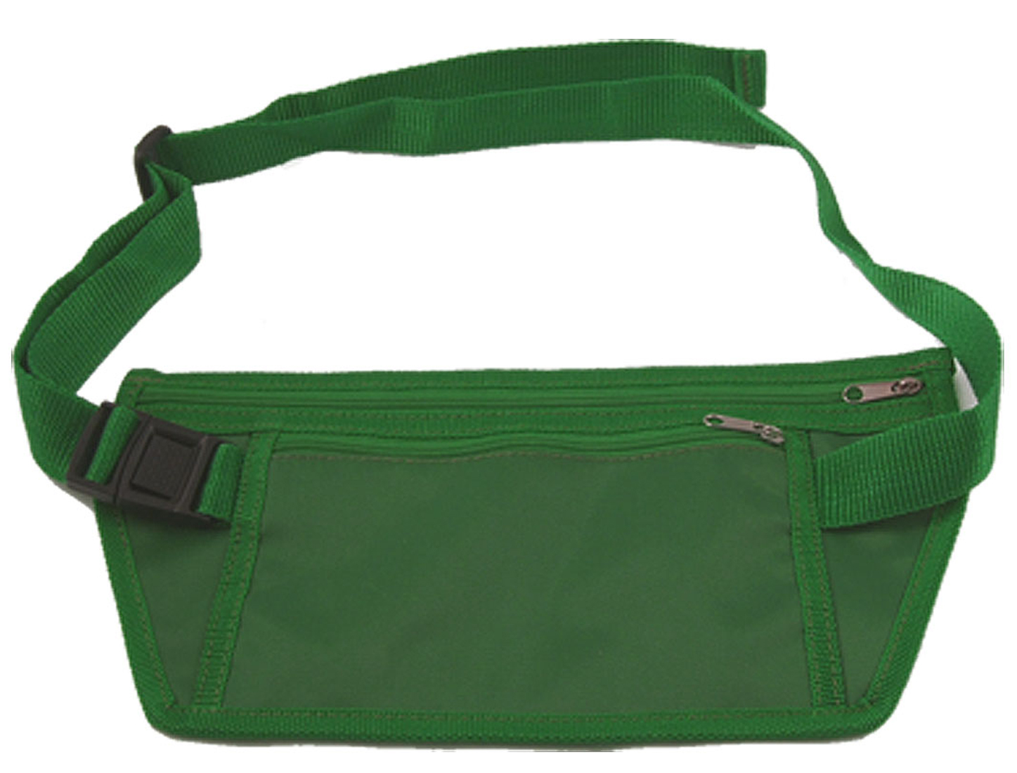 Side Release Buckle Green Nylon Ultra Flat Waist Pack Bag for Men
