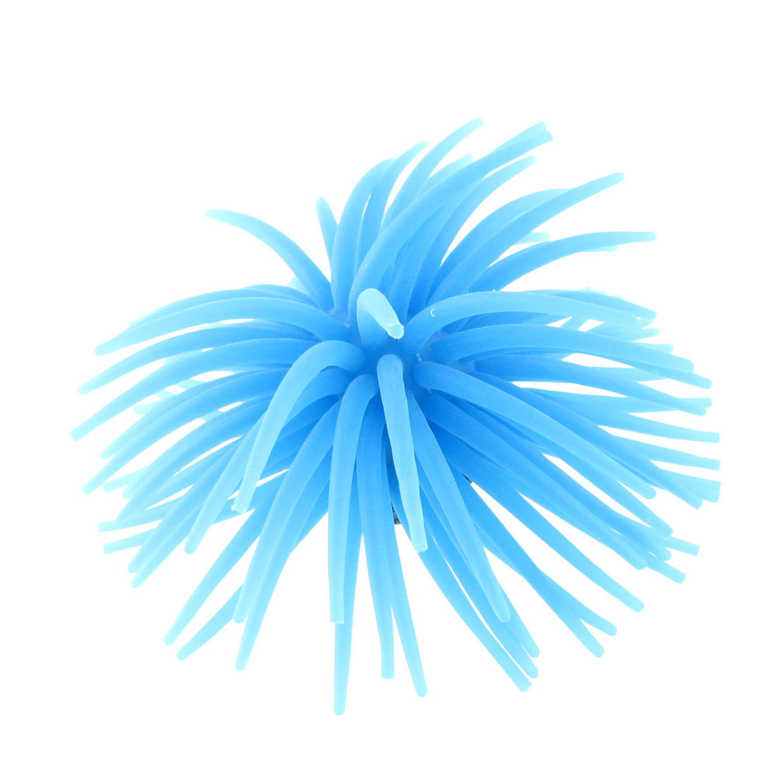 Blue Silicone Artificial Sea Urchin for Fish Tank Aquarium