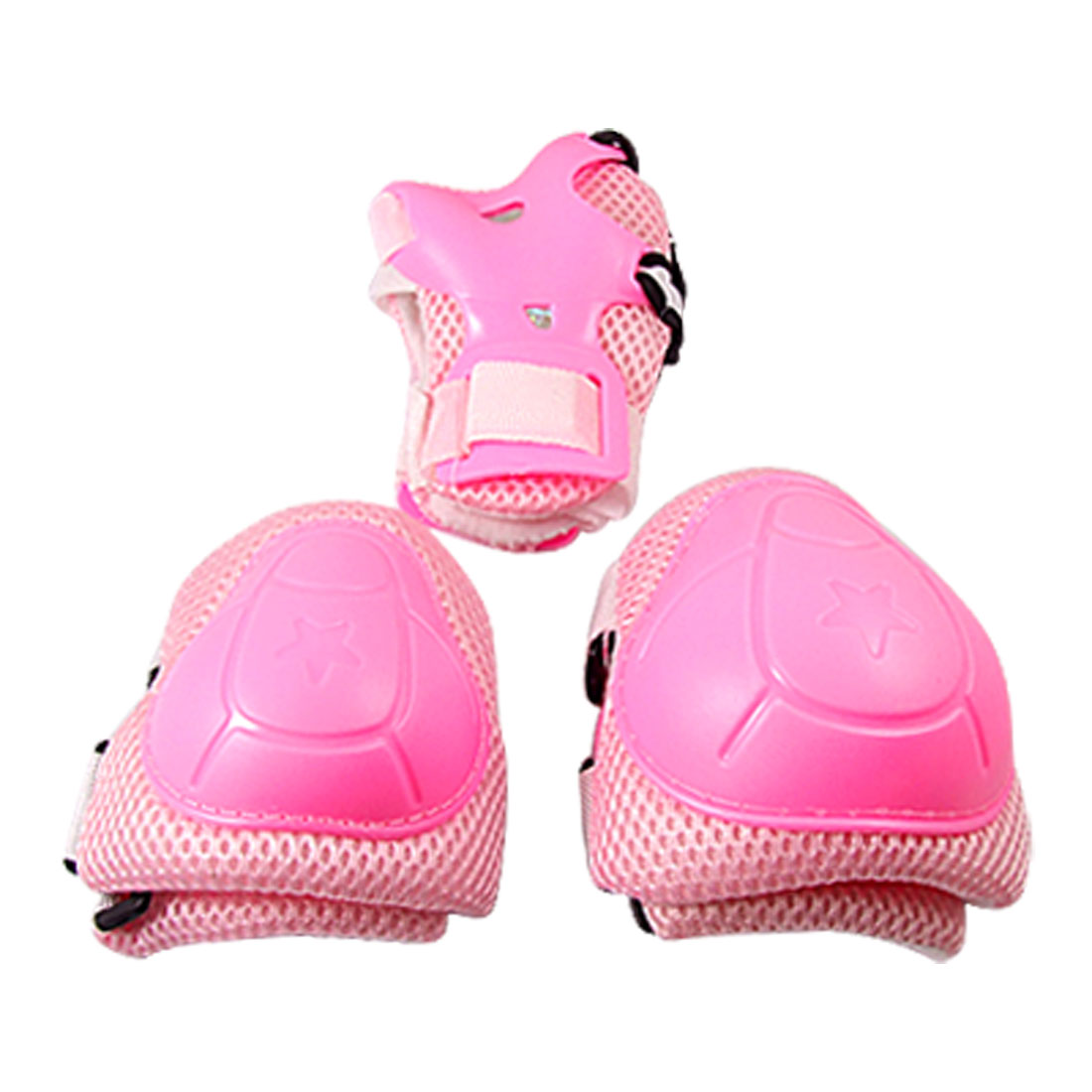 Child Rose Pink Skating Gear Knee Elbow Pads Wrist Support