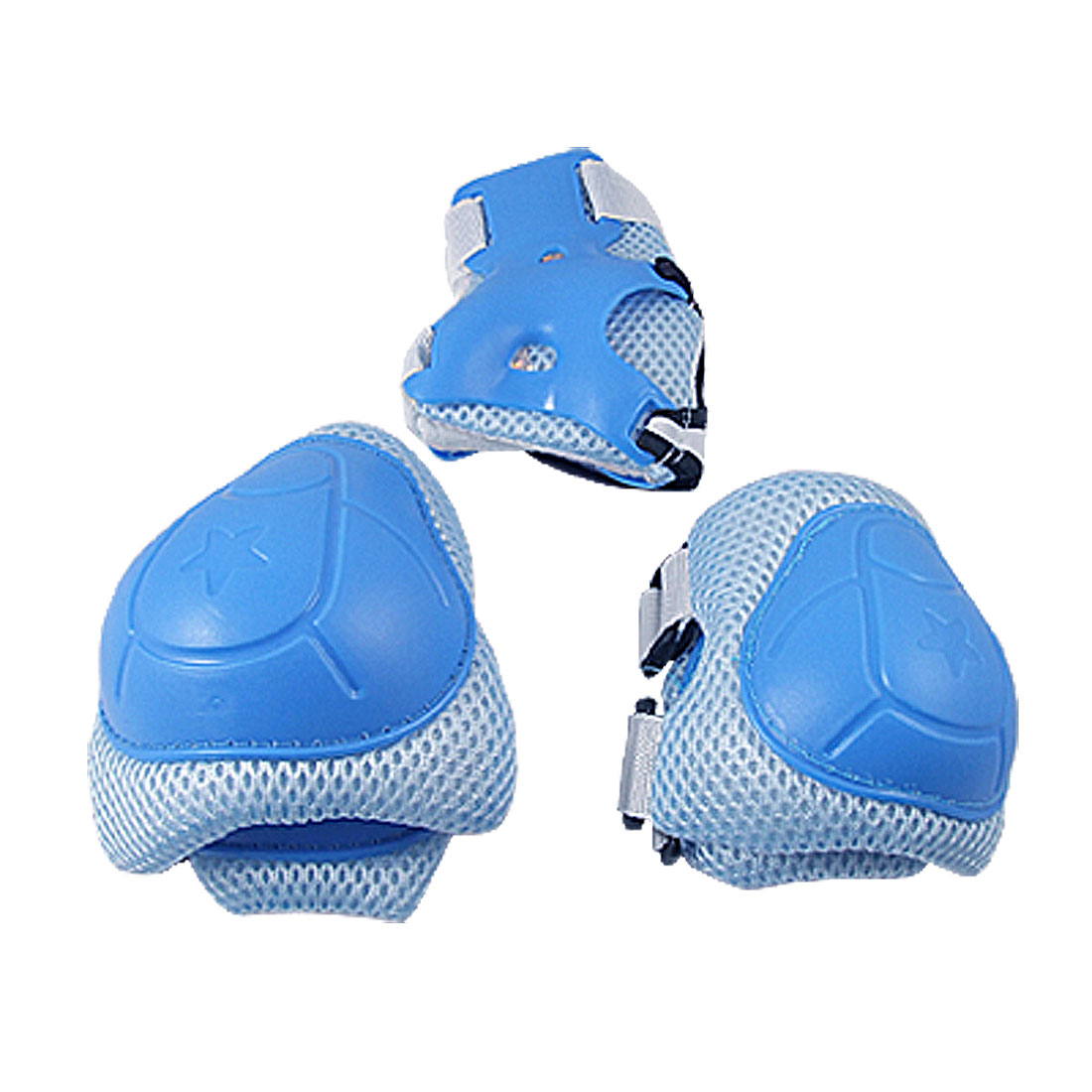Child Skating Knee Elbow Wrist Protective Guard Pad Set Blue