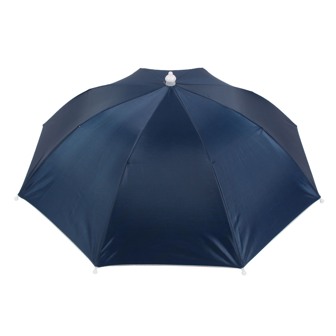 "17"" Length Hands Free Outdoor Sports Fishing Rain Sun Umbrella Hat Navy Blue"