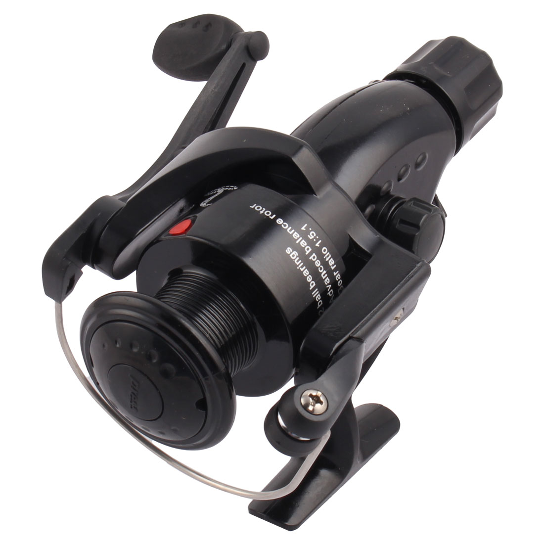 Fishing Tackle 2 Ball Bearings Line Spool Spinning Reel Black