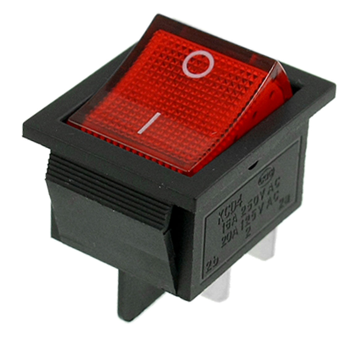 Red Light DPST ON/OFF Snap in Boat Rocker Switch 16A/250V 20A/125V AC 30x21mm