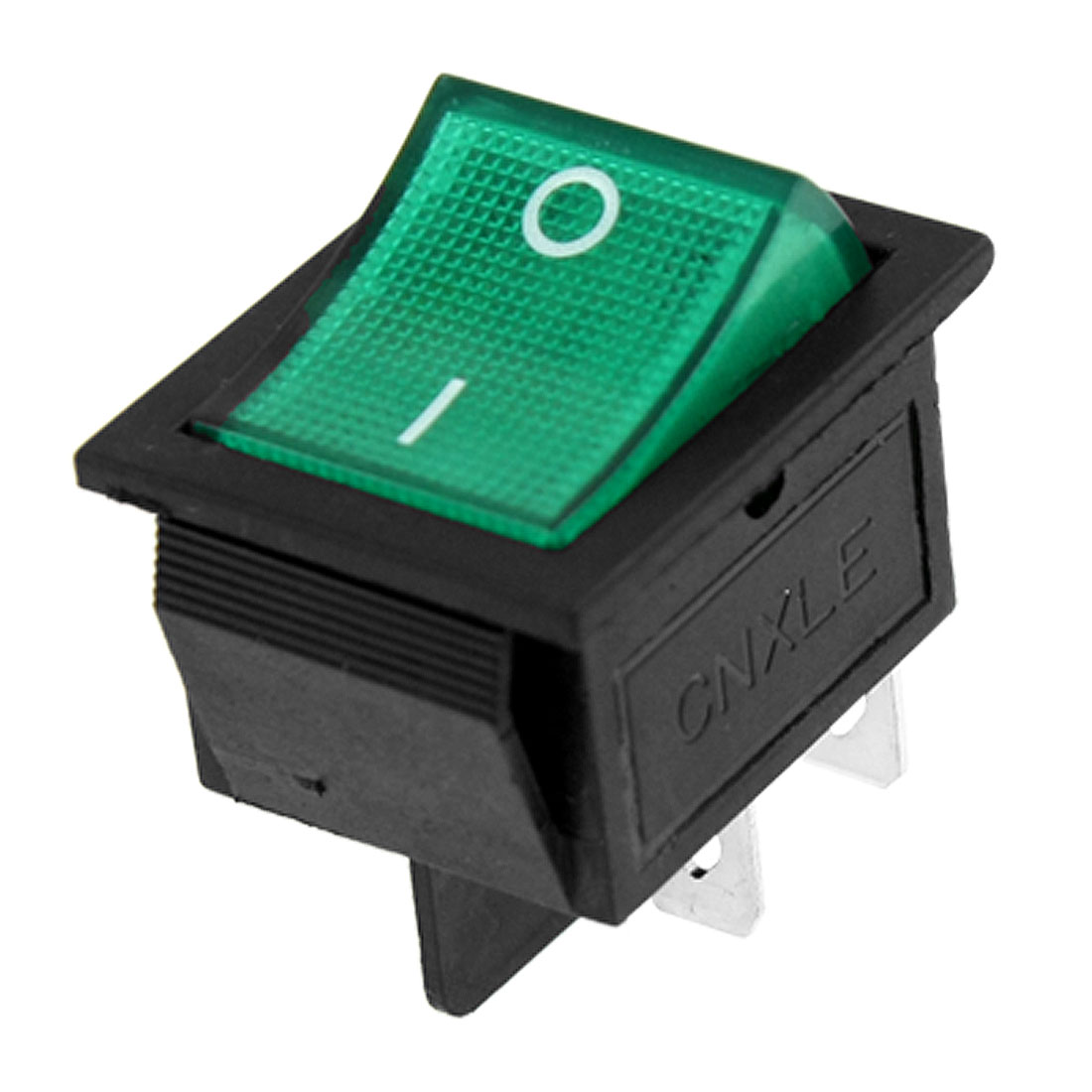 Green Lamp 4 Pin DPST ON-OFF Snap in Boat Rocker Switch 15A/250V 20A/125V AC