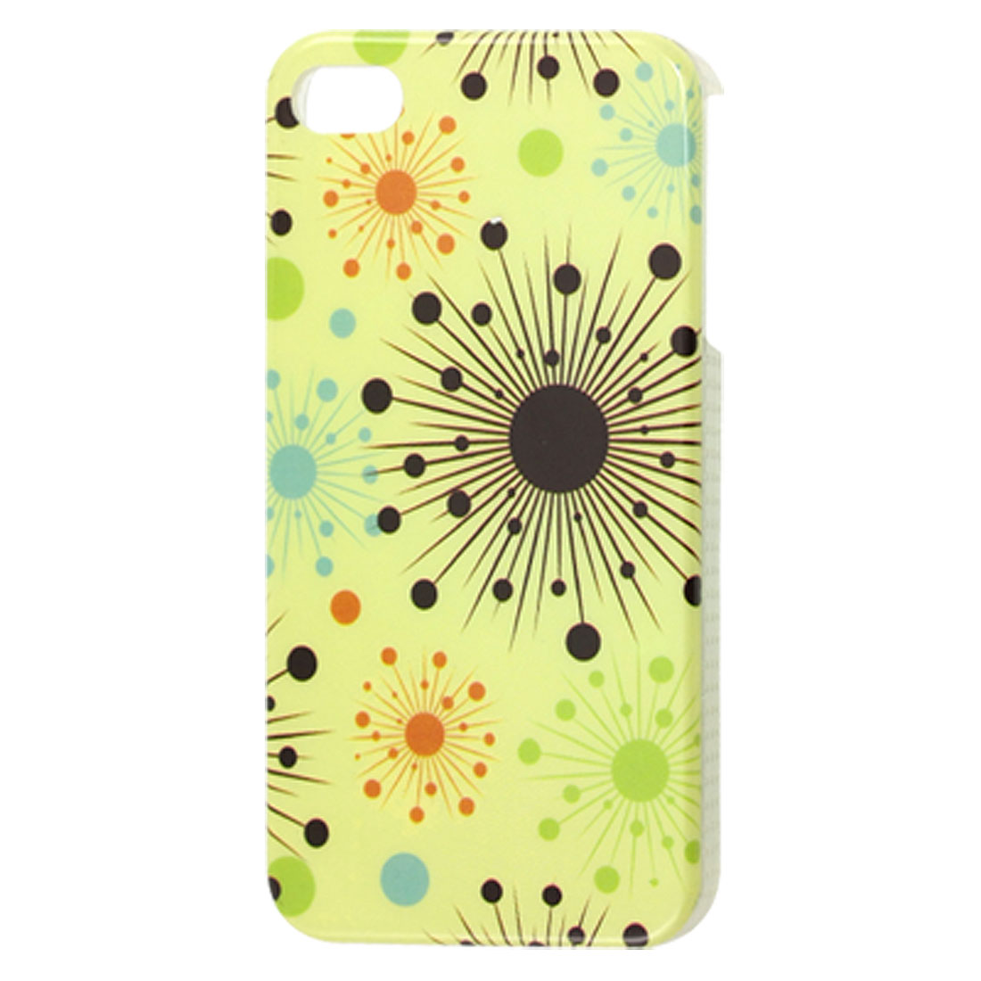 Colored Multi Circles Print Hard Plastic Back Case for iPhone 4 4G 4S