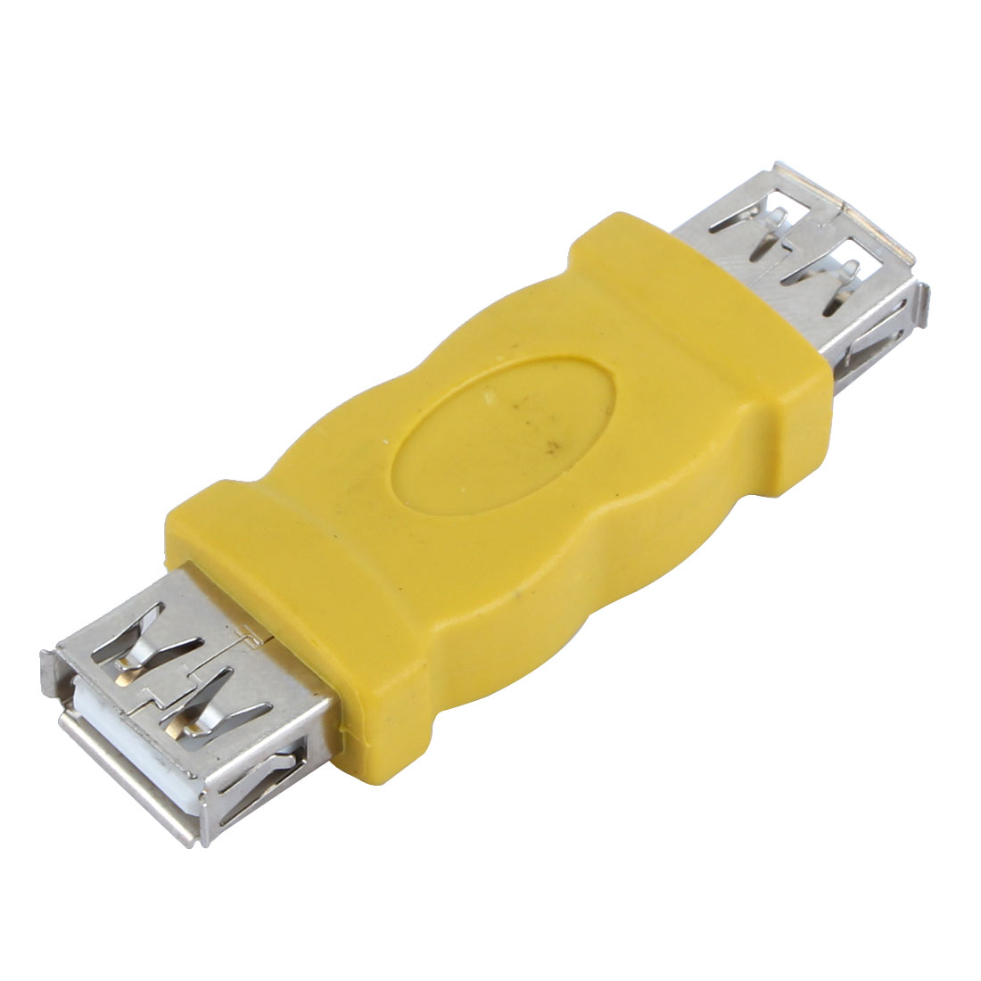 USB 2.0 Double Female Adapter Connector Yellow