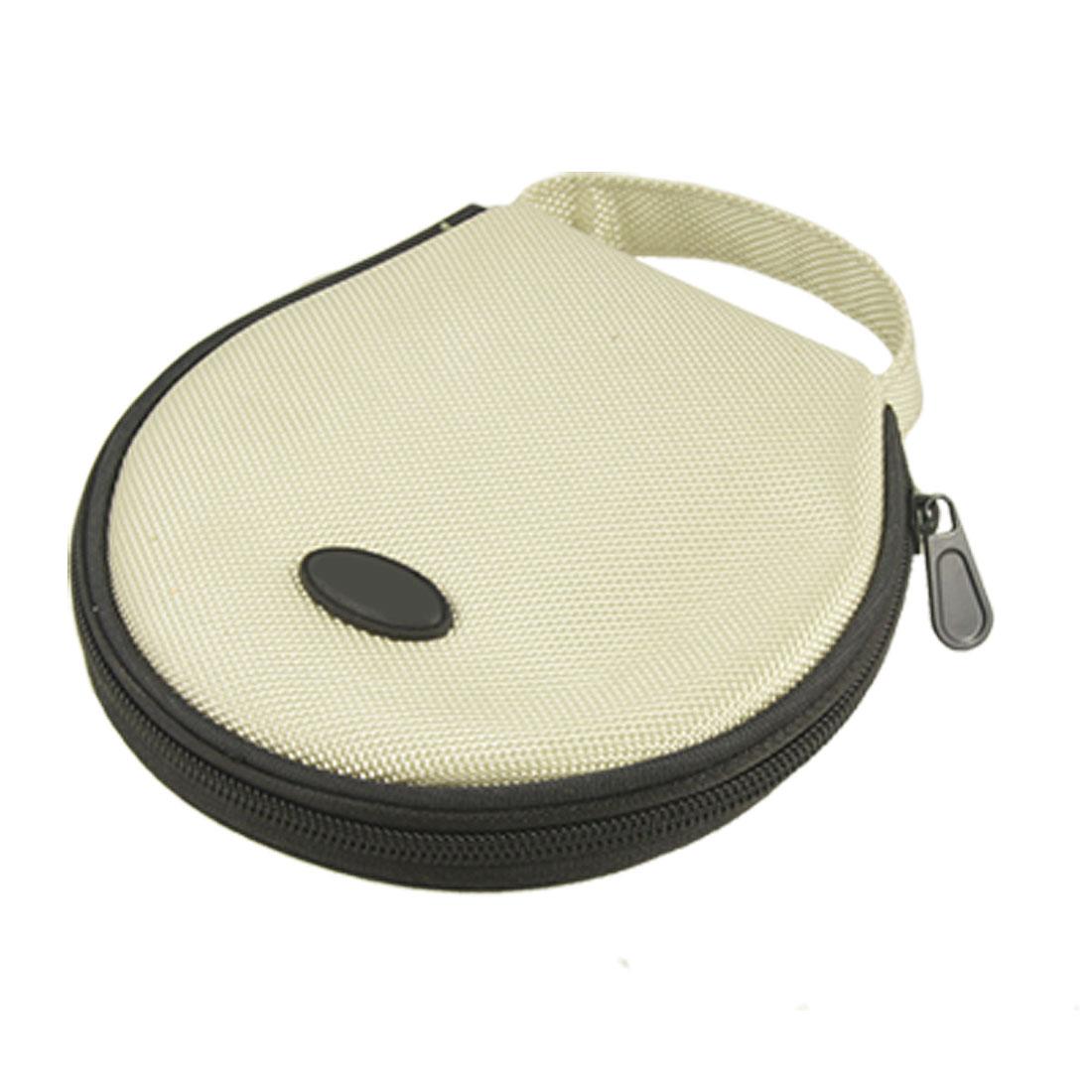 Ivory Black Nylon Zip Closure CD Storage Holder Bag for 20 Capacity
