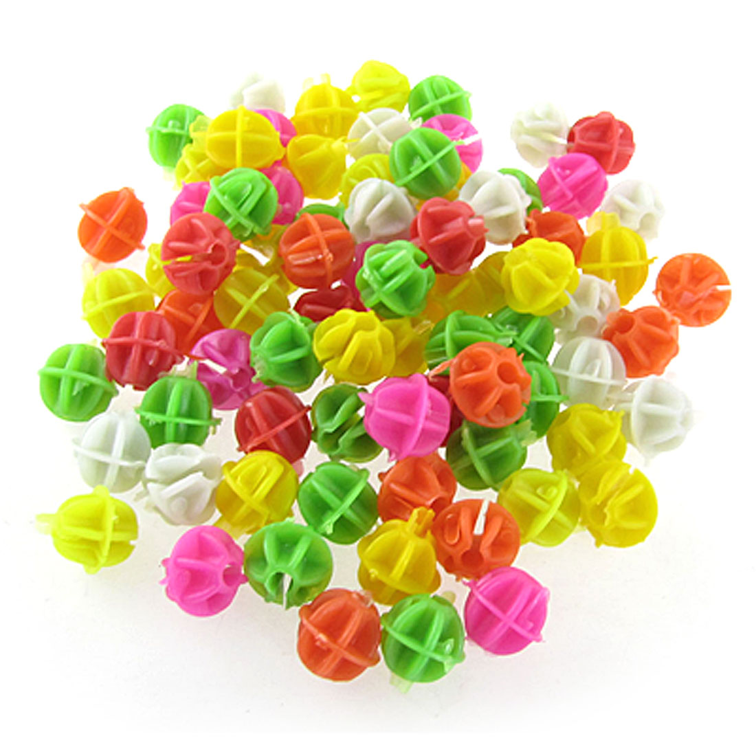 "Bike Bicycle Spoke Colorful 0.55"" Diameter Plastic Beads Decor 80 Pcs"