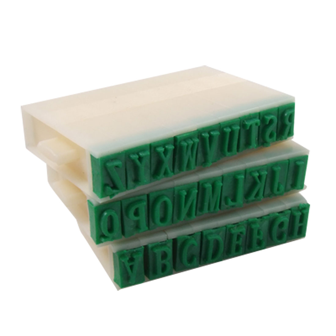 "Detachable 0.35"" x 0.24"" Plastic English Alphabet Stamp"