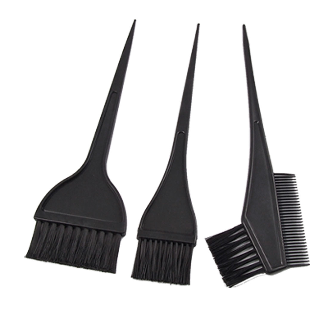 Black Plastic Handle Hair Color Tint Dye Perm Brush Comb